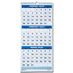 2020-3646-hod3646-house-of-doolittle-3-month-wall-calendar-fits-cubicles-8-x-17
