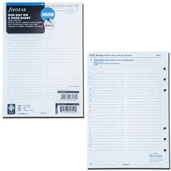 One Day On A Page Insert Refill 20-68515 Filofax 2020 A5 size Diary