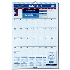 2021 At-A-Glance PM2-28 Monthly Wall Calendar, 12 x 17 ...