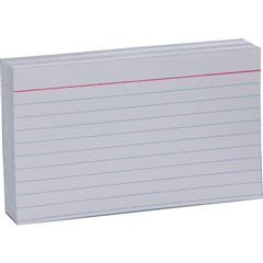 3 x 5 white ruled index cards