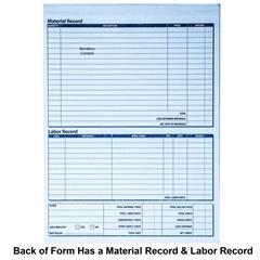 Adams NC Carbonless Job Invoice Part X - 2 part invoices