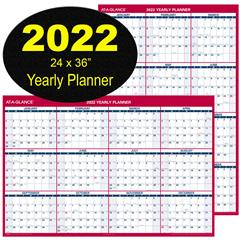 At A Glance Wall Calendar 2022.At A Glance 2022 Yearly Planner Pm26 28 Dry Erase Wall Calendar Nordisco Com