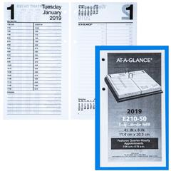 at a glance e210 50 2019 large daily calendar refill 4 1 2 x 8