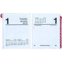 at a glance e919 50 2019 compact daily calendar refill with tabs
