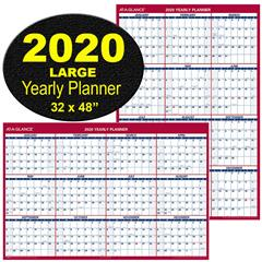 At A Glance Pm326 28 2020 Yearly Planner Large Dry Erase