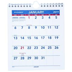 at a glance pm5 28 2019 mini monthly wall calendar 6 1 2 x 7 1 2