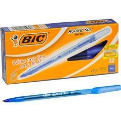 BIC Round Stic Ballpoint Pens Medium Point Type - Black - 10 / Pack