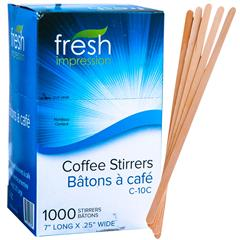 """1000 x Wooden COFFEE TEA STIRRERS 7/"""" Long  Ideal  FOR PAPER CUPS STICK"""