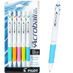 pilot-acroball-pure-white-31861-5-pack-0.7mm-fine-black-ink