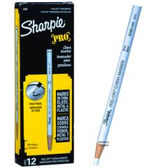 sharpie-pro-white-peel-off-china-marker-02060-2060-164t-box-of-12