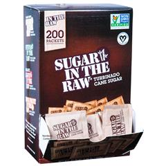 Sugar In The Raw 50319 Turbinado Cane Sugar Box of 200 Packets