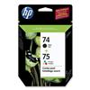 HP 74/75 CC659FN Combo Black/Color Ink Cartridges