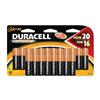 "Pack of 20, Duracell CopperTop ""AA"" Batteries, MN1500B20"