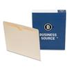 File Jackets, Flat, Letter Size, 2-Ply Tab, Manila, Business Source 65796, Box of 100 (21216)