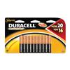 "Pack of 20, Duracell CopperTop ""AAA"" Batteries, MN2400B20"