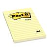 "Post-it Notes 4 x 6"" Canary Ruled Note, 1 Pad"