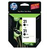 HP 21 C9508FN Twinpack Black Ink Cartridge