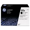 HP 05X, CE505XD Black High Yield LaserJet Toner Cartridge-Dual Pack